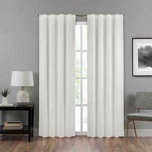 Curtain panel 40″ x 63″ White Rod Pocket Draft Sto